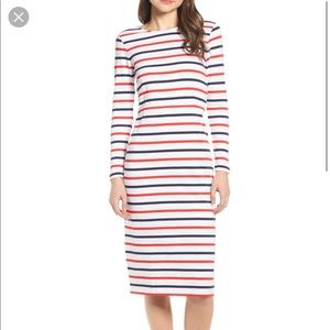 J. Crew | Cotton Long Sleeve Striped Dress Sz 2